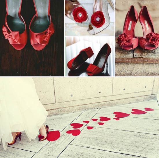 Brautschuhe Hochzeitsschuhe Rot Blume Herz Leder Http Www