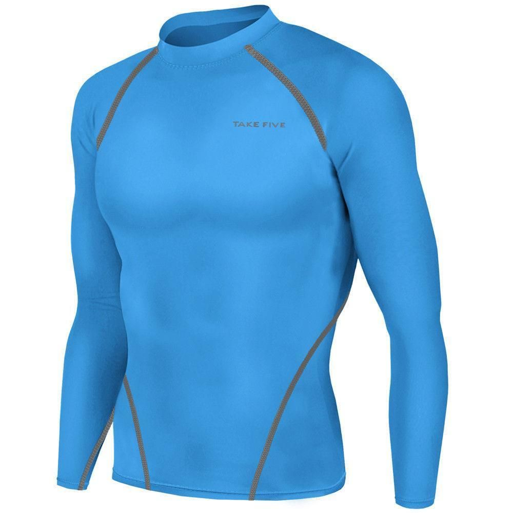 Men/'s Workout Sports T Shirts Athletic Skin Compression Tops Tights Long Sleeves
