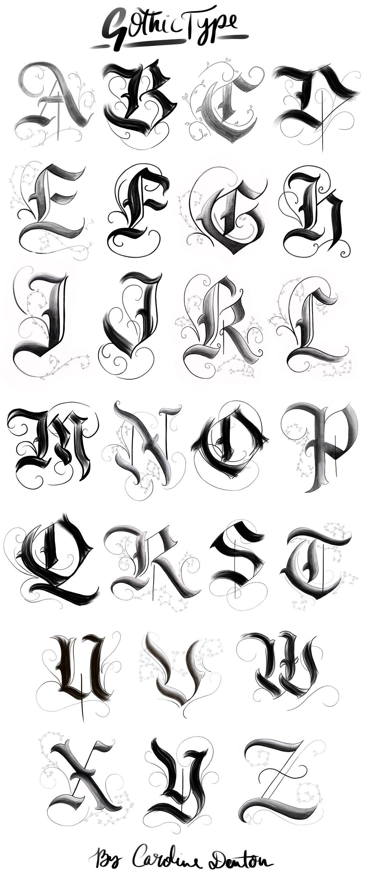 Gothic alphabet on behance tattoo lettering fonts tattoo fonts alphabet calligraphy letters alphabet