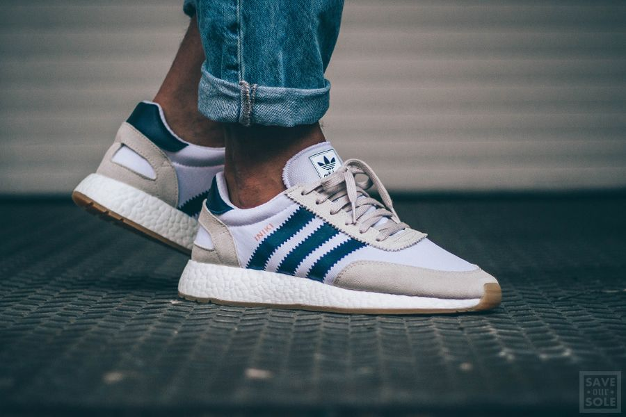 Adidas Iniki Runner White Navy Gum | Neu | Save Our