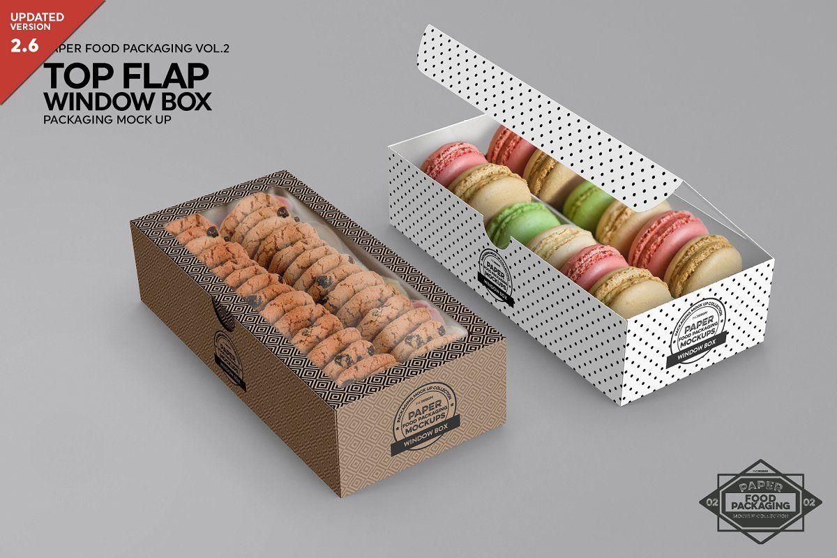 Download Top Flap Window Box Packaging Mockup Design Mockup Free Free Packaging Mockup Packaging Mockup