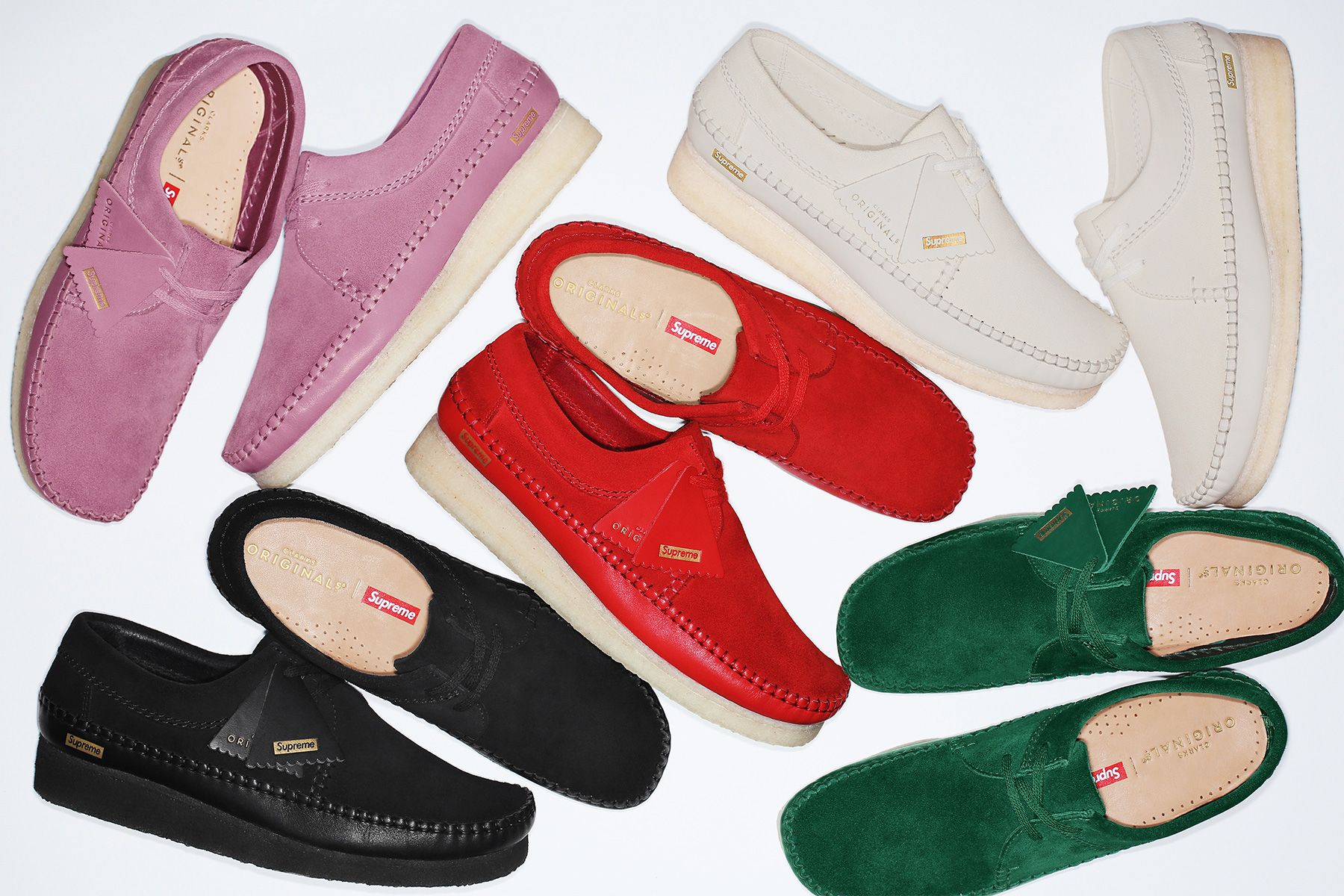 01e57b89be242 Supreme x Clarks Originals Weaver Collection Footwear Shoes Classic Made in UK  Leather New York Supreme Crepe Suede