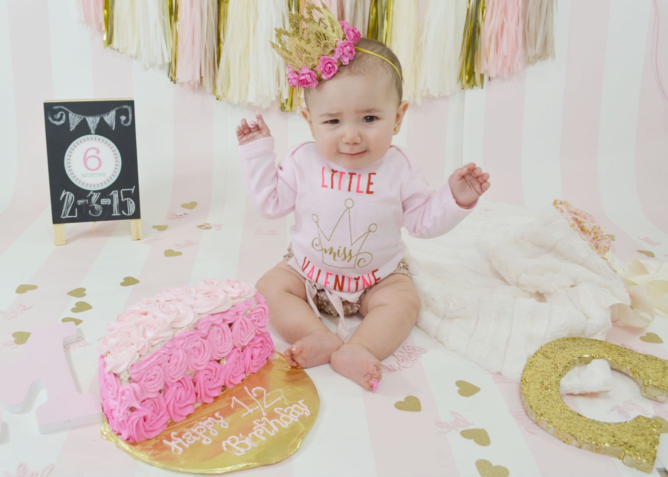 6 Month Cake Smash For My Baby Pinterest 6 Months Birthday