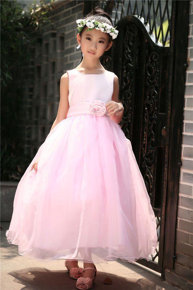 Tulle Pink Dress Wedding Flower Girl