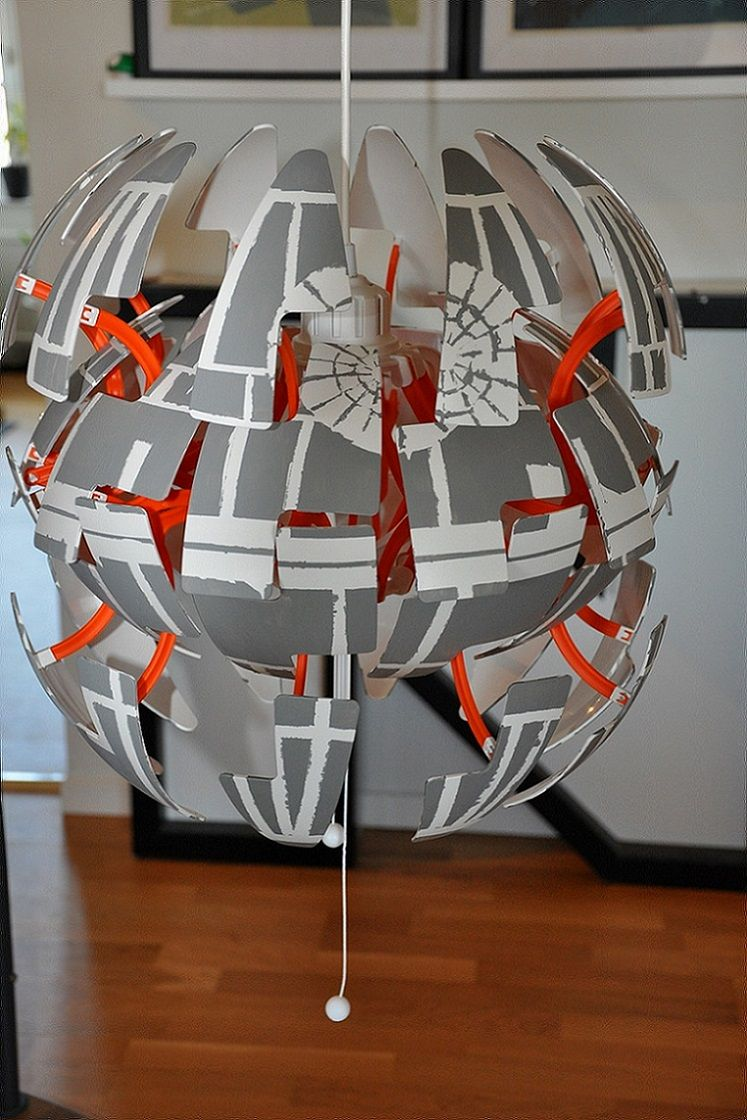 Ikea Ps Lamp Goes Exploding Death Star Star Wars Room