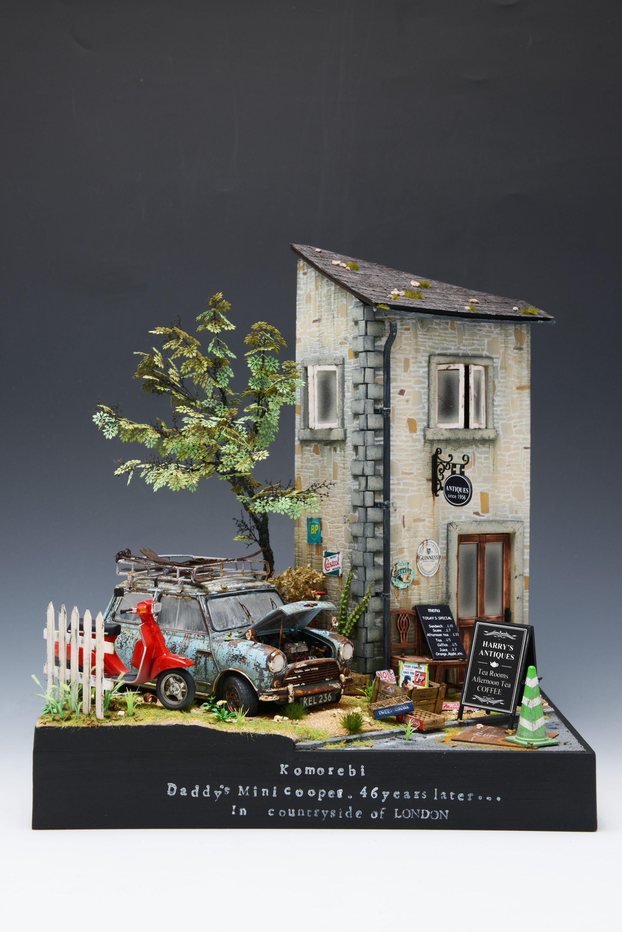 Antique Shop 1 25 Scale Model Diorama ヴィネット 看板 建築
