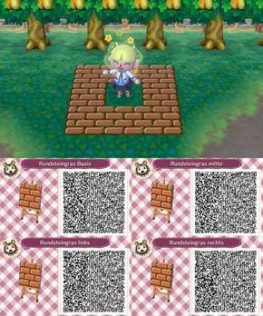 Brown Brick Pathway 4 Piece Acnl Pathways Animal Crossing