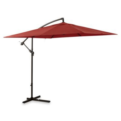 Really 8x8 Feet 11 Foot Square Umbrella In Salsa With Offset Steele Frame Bedbathand Rectangular Patio Umbrella Large Patio Umbrellas Offset Patio Umbrella