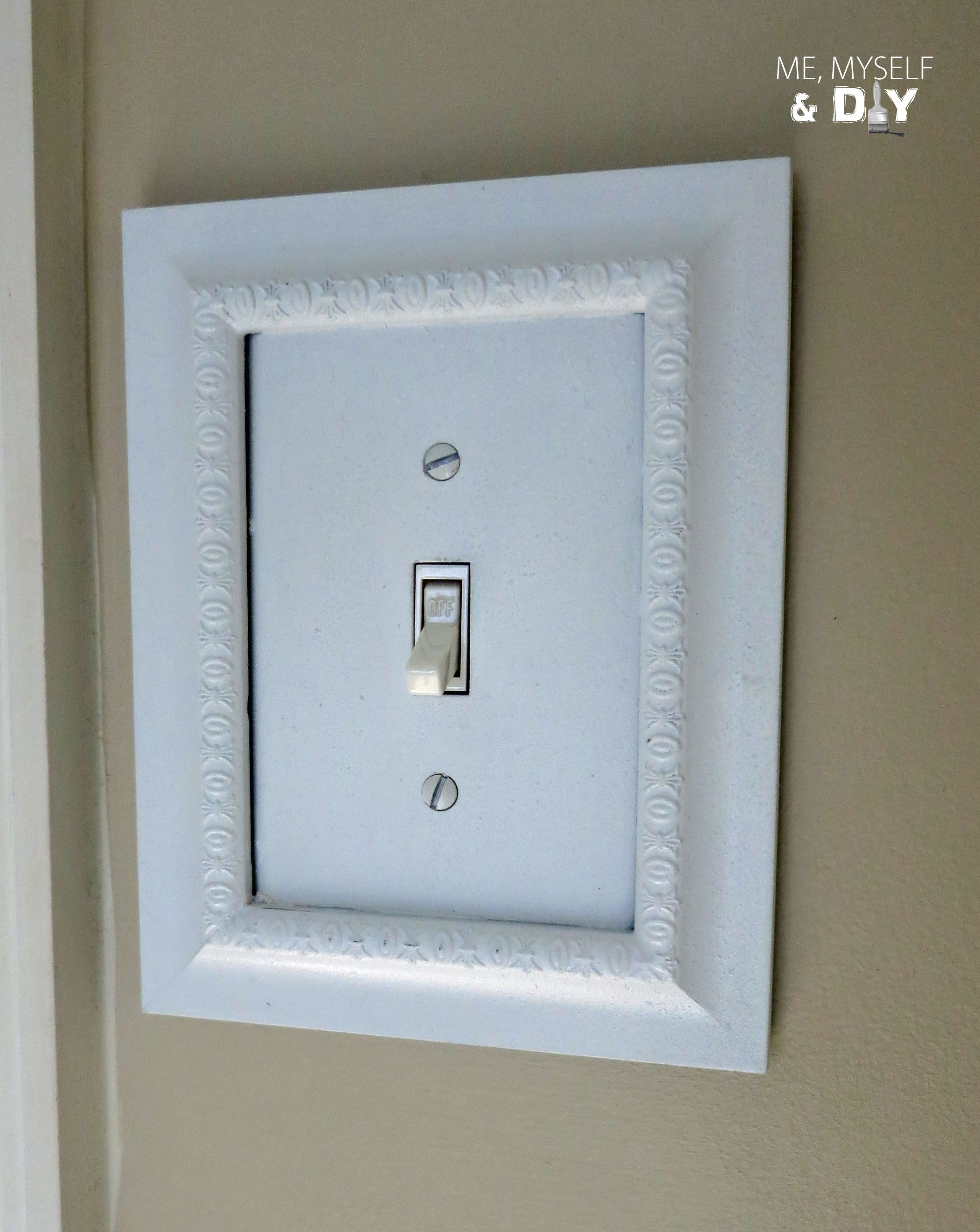 Use Painted Dollar Store Frames To Trim Switchplates From