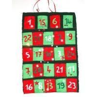 Calendrier de l'Avent : Fabriquer un calendrier de l'Avent en feutrine - Noel #calendrierdel#39;aventcouture calendrier de Noël en feutrine - Tête à modeler #calendrierdel#39;avent