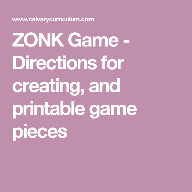 photograph relating to Printable Game Pieces identified as ZONK Match - Recommendations for coming up with, and printable video game