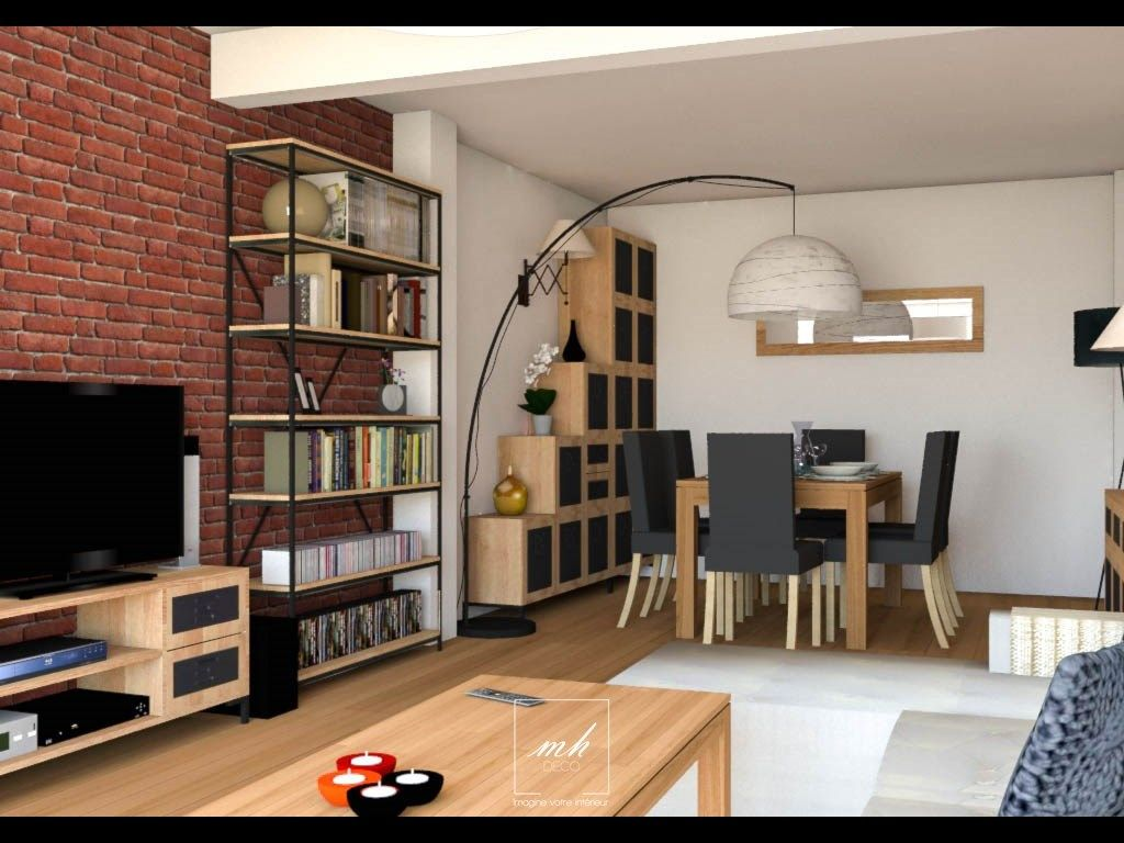 d coration int rieure industrielle pur e interior design project by mh deco. Black Bedroom Furniture Sets. Home Design Ideas