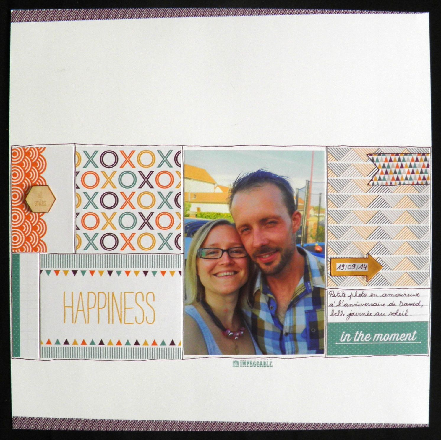 Happiness is... scrapbook page with Project Life cards by Stampin'Up! Valoudebest
