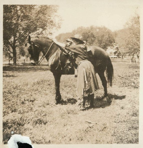 vintage photo 2 photos Cowgirl and Her Horse | Western ...