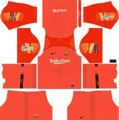 8490ba85a56 Barcelona Goalkeeper Third Kit 2018-19 Dream League Soccer Kits URL 512x512