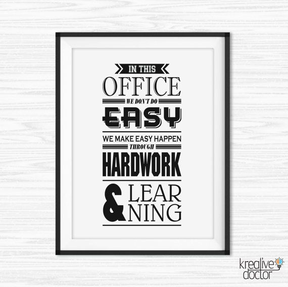 Office Wall Art Motivational Poster Inspiration Canvas Quotes Decor Printables For Tumblr