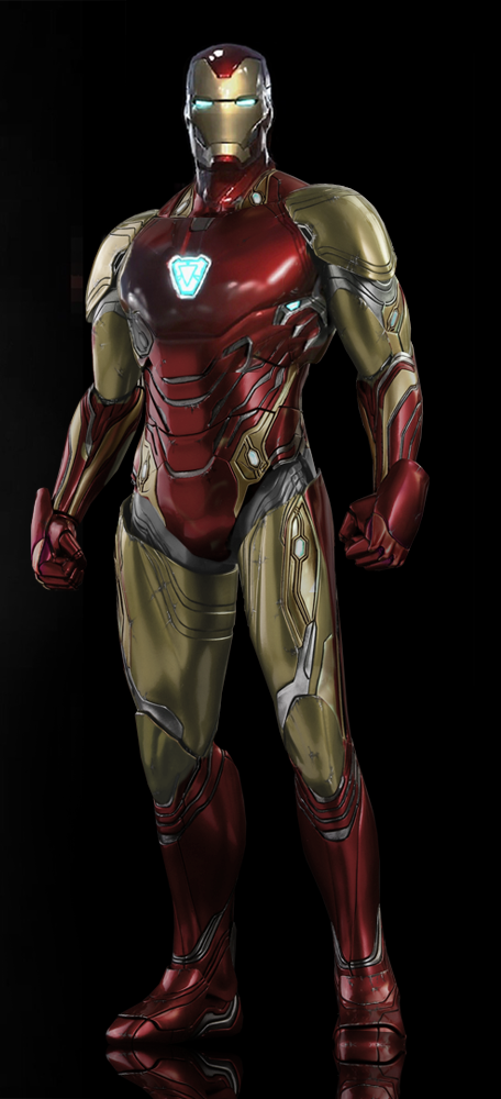 A Rough Approximation Of What The New Iron Man Suit Mark 85 Will Look Like In Avengers Endgame Pahlawan Super Kaos Evolusi