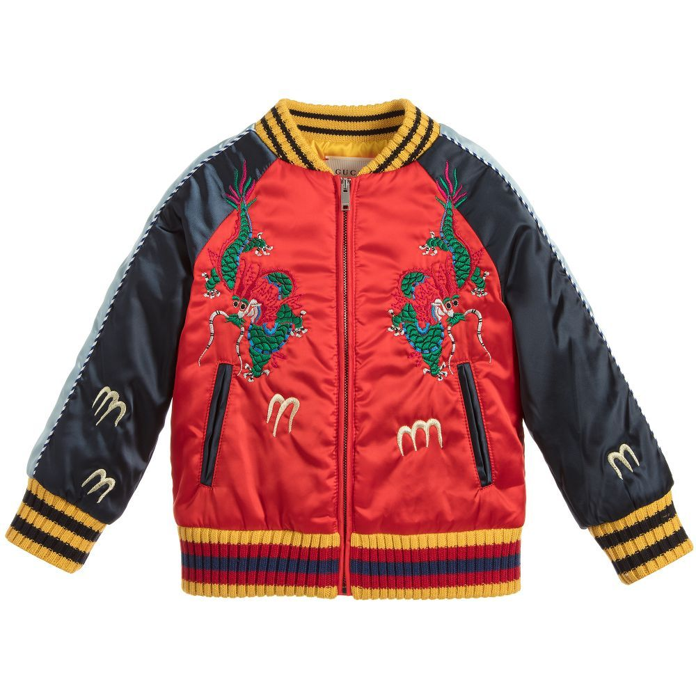 974b84a5a64d Gucci - Boys Satin Bomber Jacket