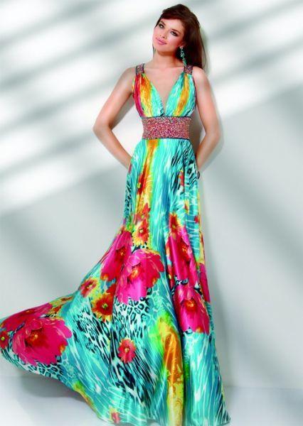 Telas para vestidos de noche largos