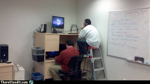 Cramped office space lactation room dorm desk funny pictures