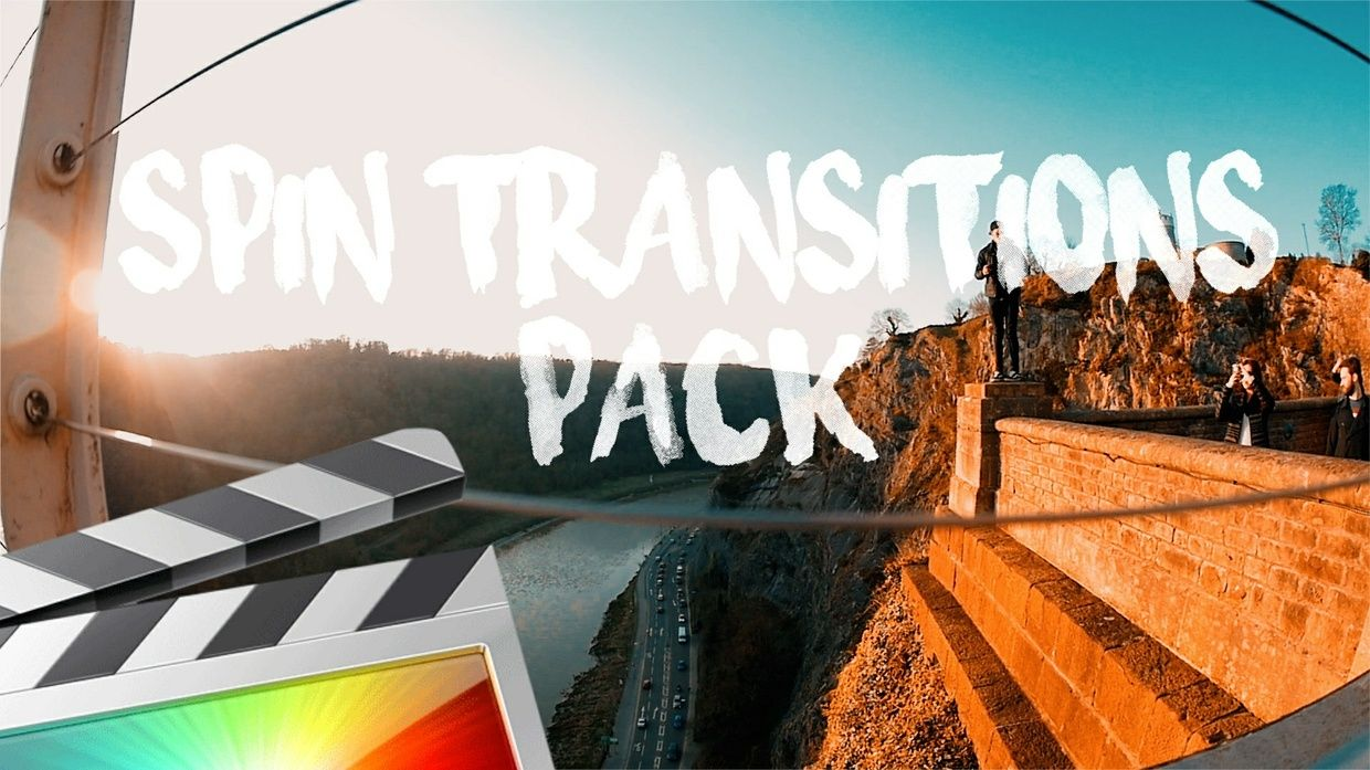 Spin Transitions Pack - Final Cut Pro X | FCP color grading