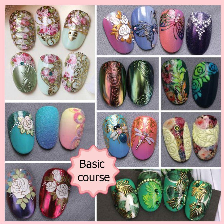 تعليم الرسم على الاظافر بالصور E Mi School Of Nail Design Nails Nailart Arabicnails Nail Art Wheel Nail Art Designs Nail Art Courses