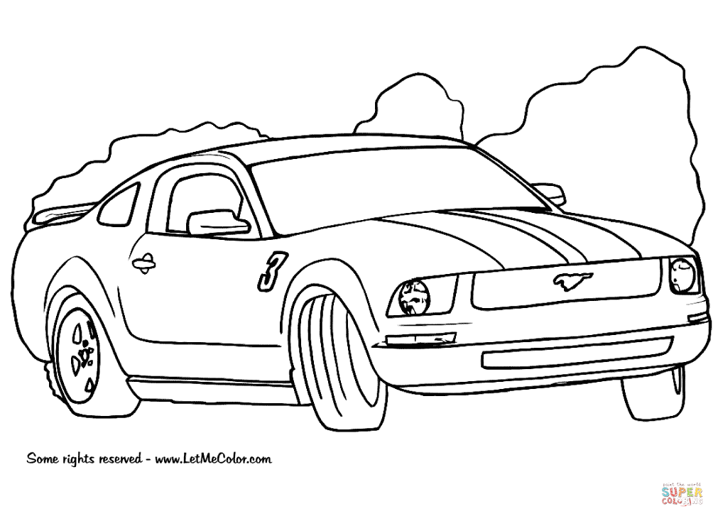 Mustang Coloring Pages Ford Mustang Coloring Page Free Printable Coloring Pages Free Download Race Car Coloring Pages Cars Coloring Pages Truck Coloring Pages