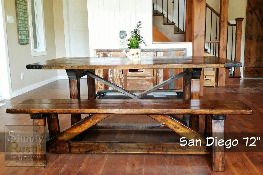 The San Diego 72 Is A Modern Yet Rustic Farmhouse Dining Table