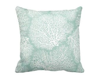 Green Throw Pillow Cover Sea Foam Pillows Sage Green Pillows