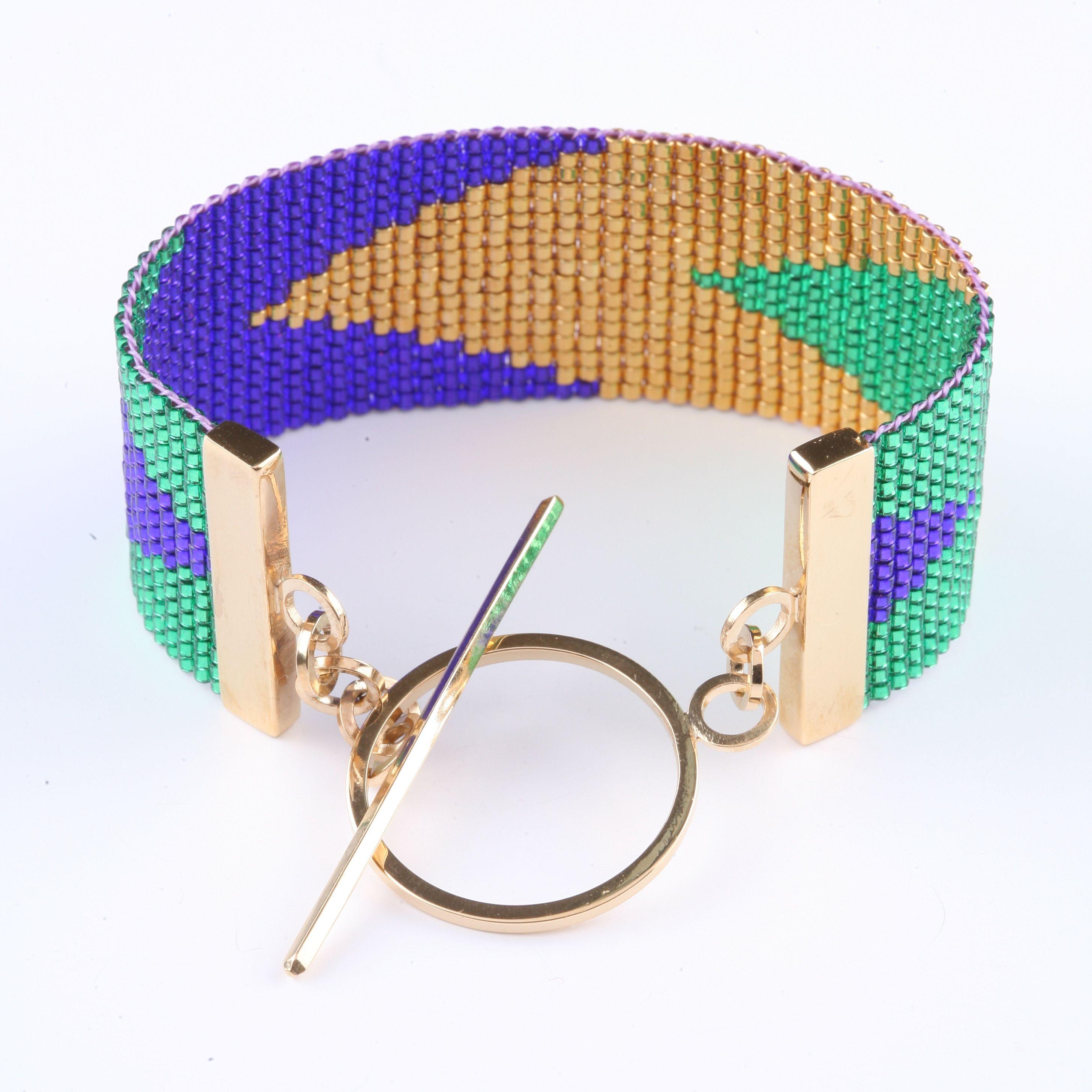 Navajo Cuff Violet/Emerald £160