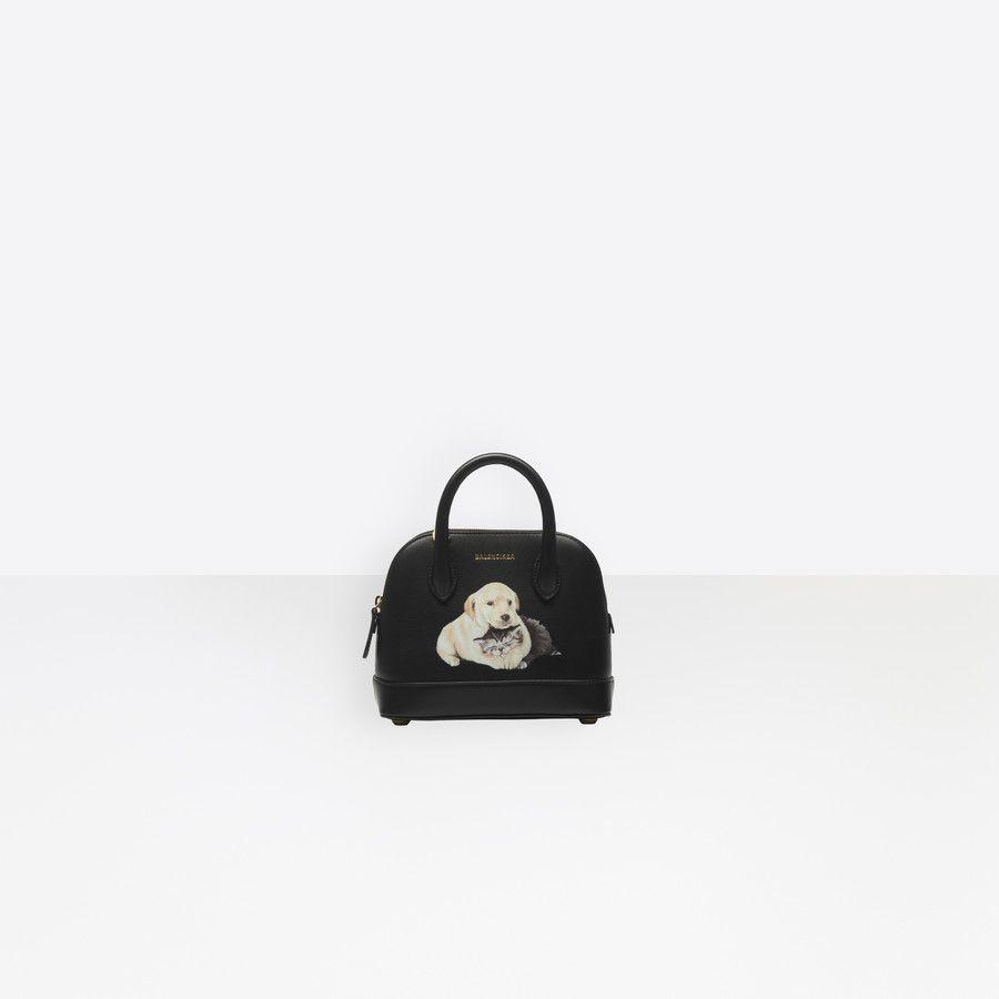 Puppy And Kitten Ville Top Handle Xxs Black Balenciaga Women Handbags Small Bag
