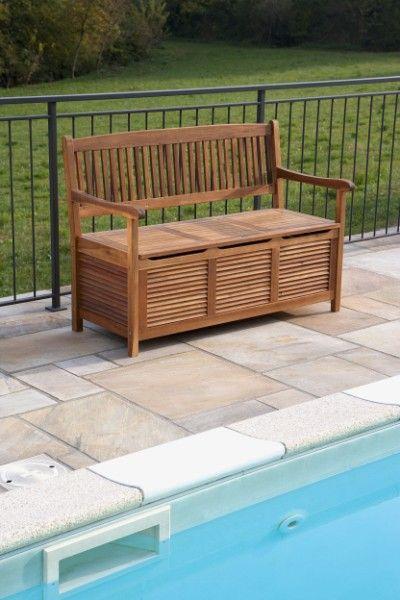 Panca baule nicosia portaoggetti in acacia art lgl 10412 in giardino o sul terrazzo la banca - Cassapanca in legno ikea ...