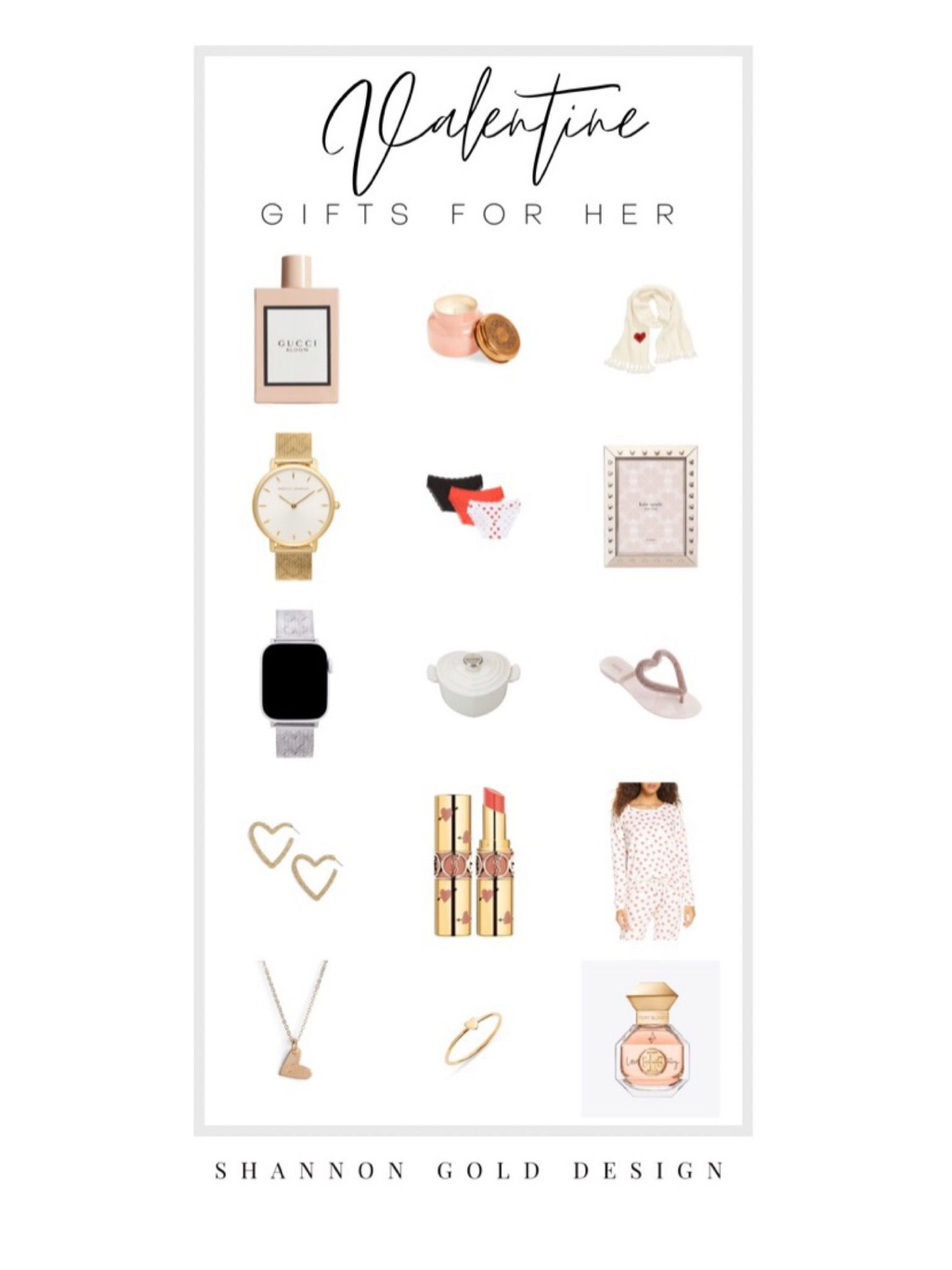 Valentine's Day Gift Guide for ladies. Give something