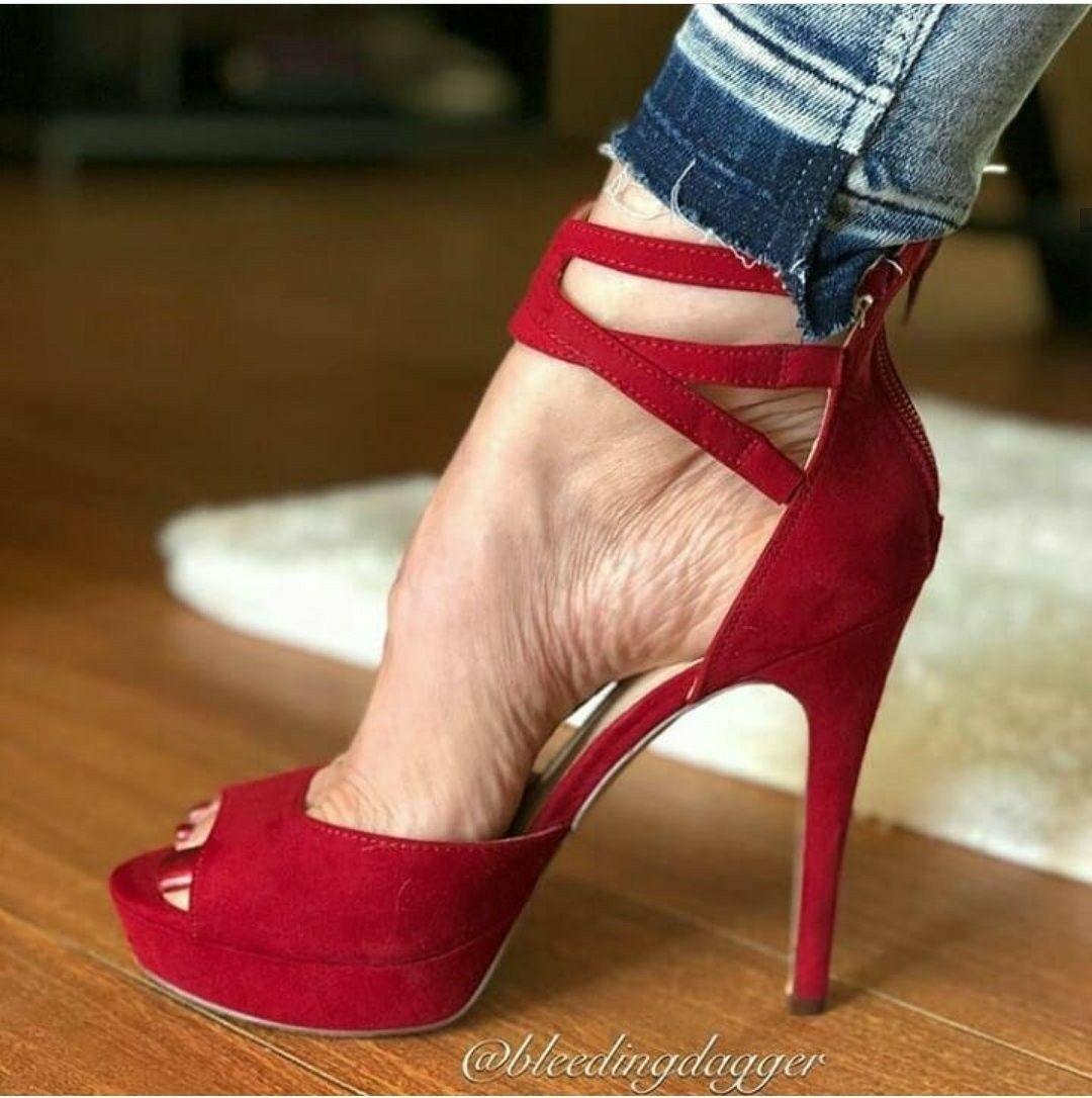 Red heel | Heels, Womens high heels