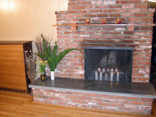 How to build a concrete fireplace hearth fireplace - Fireplace hearth stone ideas ...