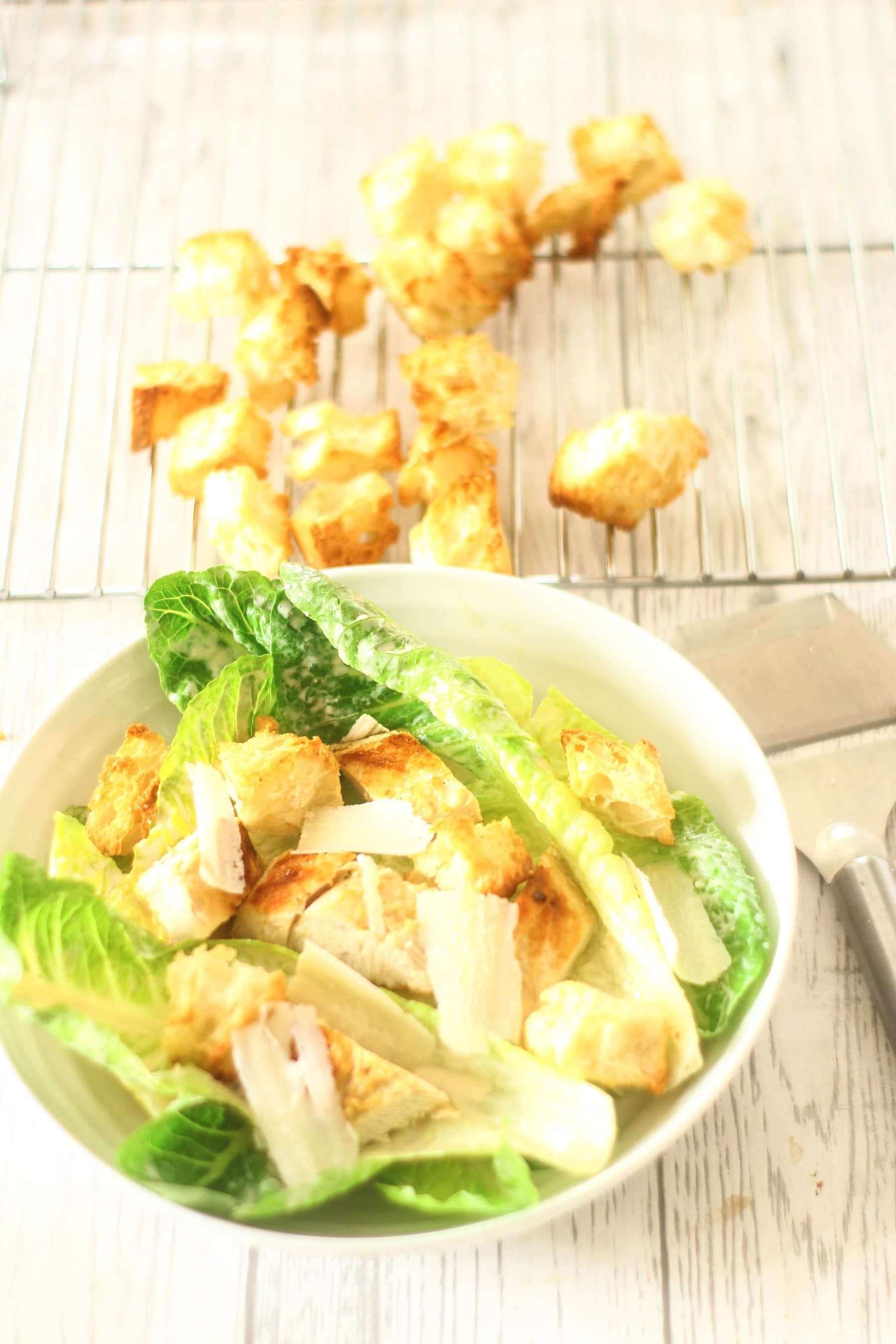 Easy Chicken Caesar Salad Recipe With Images Easy Dinner