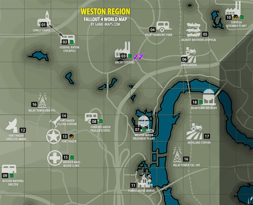 Fallout 4 Weston Region Map Fallout 4 With Images Fallout
