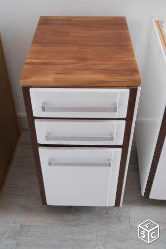 Element bas cuisine - 3 tiroirs - Casserolier Cuisine maison de