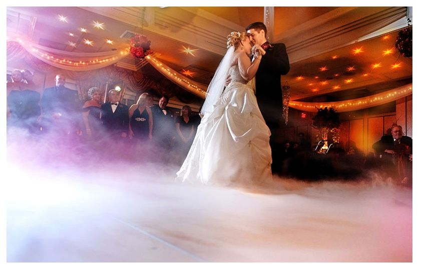 Have your first dance on a cloud. Party Pyro also does affects with dry ice and fog machines!