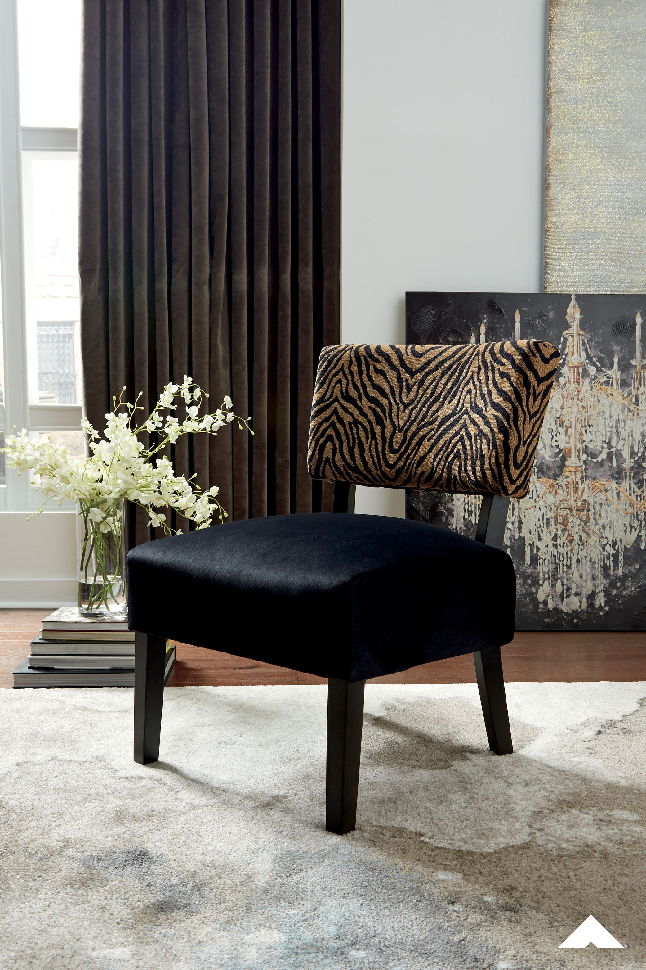 Parvin Black Gold Accent Chair By Ashley Furniture Go A Little Wild With This Animal Print Acce In 2020 With Images Printed Accent Chairs Accent Chairs Animal Print Accent Chair