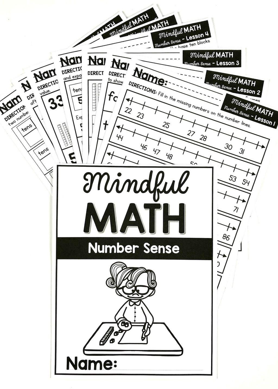 Mindful Math Curriculum For Kindergarten First Grade