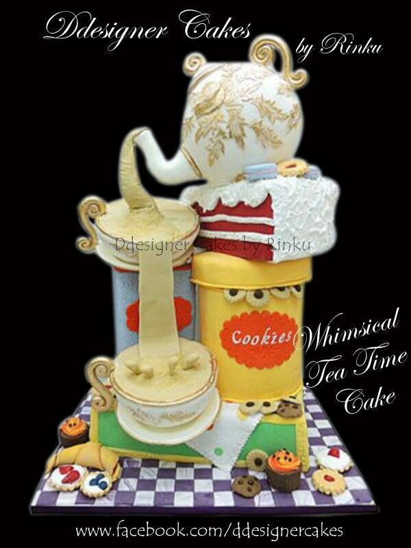 Tea Time Whimsical Cake By Rinku 3d Birthday Cakes For Adults