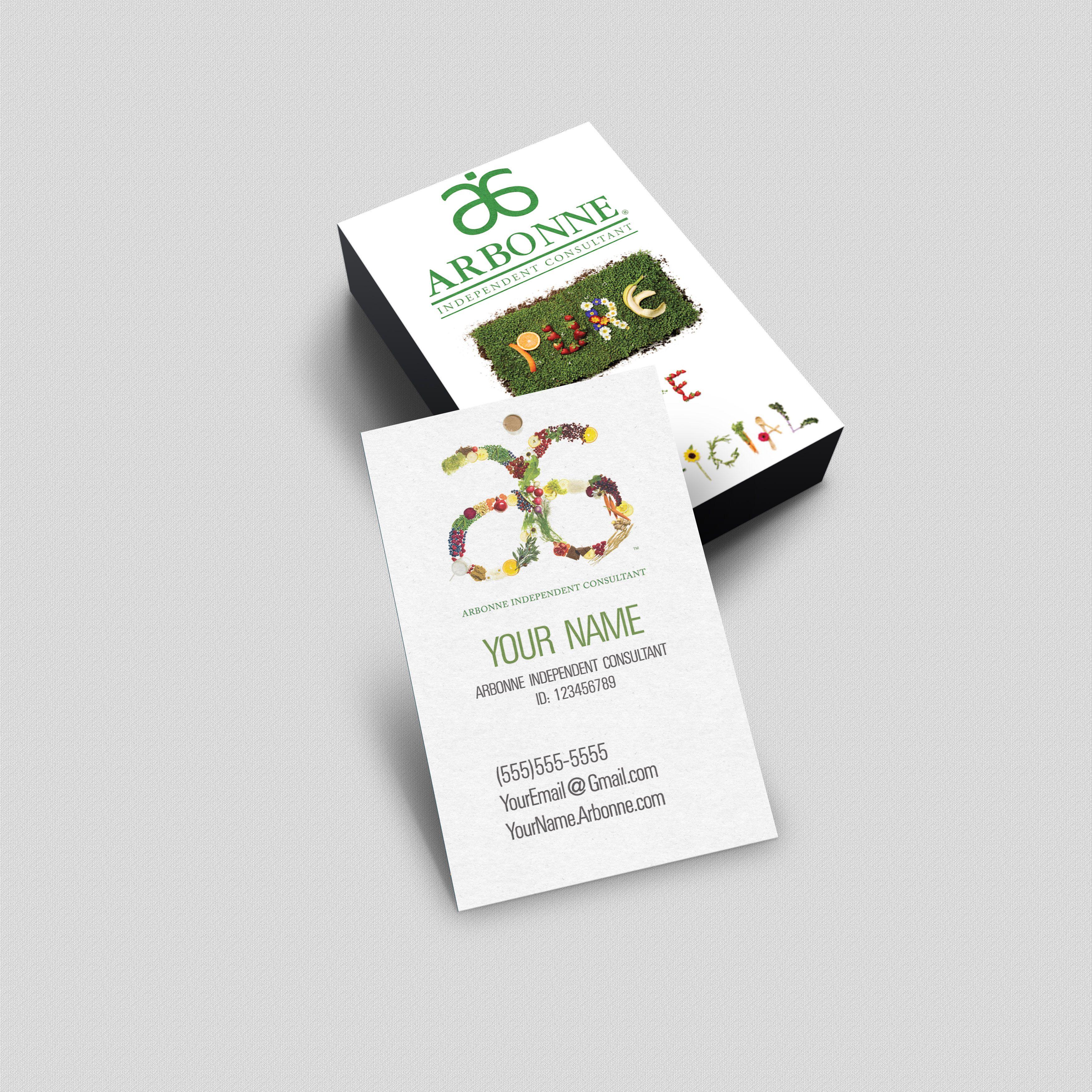Arbonne Business Card - Pure Safe Beneficial | arbonne Entrepreneur ...