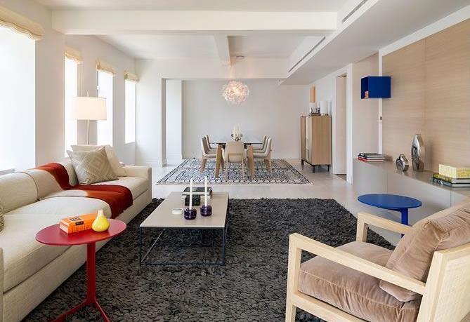 pi ce vivre moderne et blanche et cr me pour mon. Black Bedroom Furniture Sets. Home Design Ideas