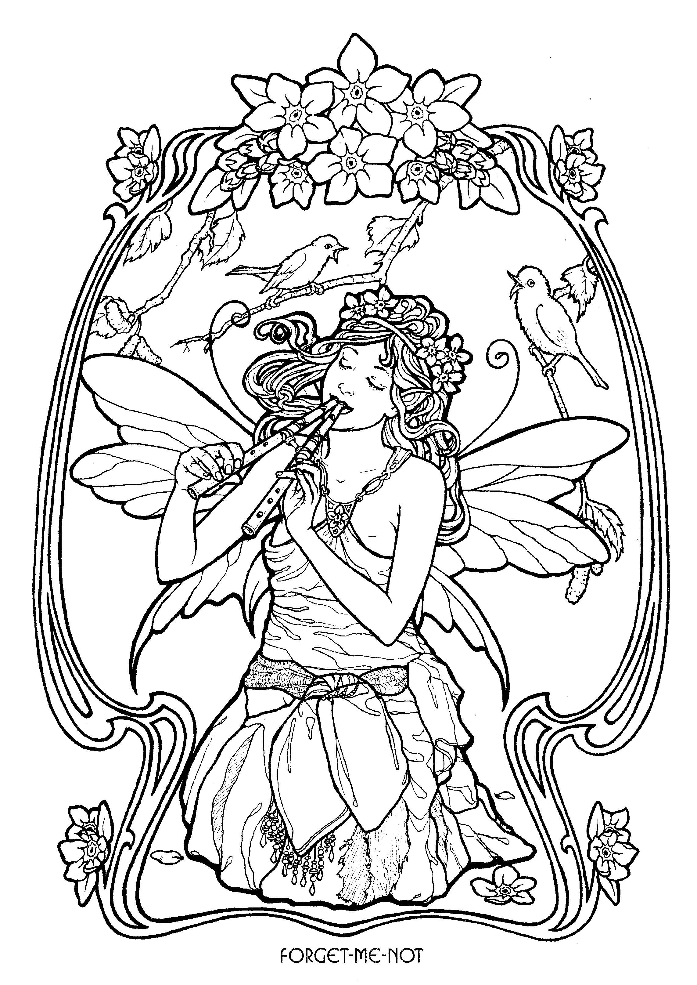 Fairy 26 | Art I Like | Pinterest | Fairy, Adult coloring and ...