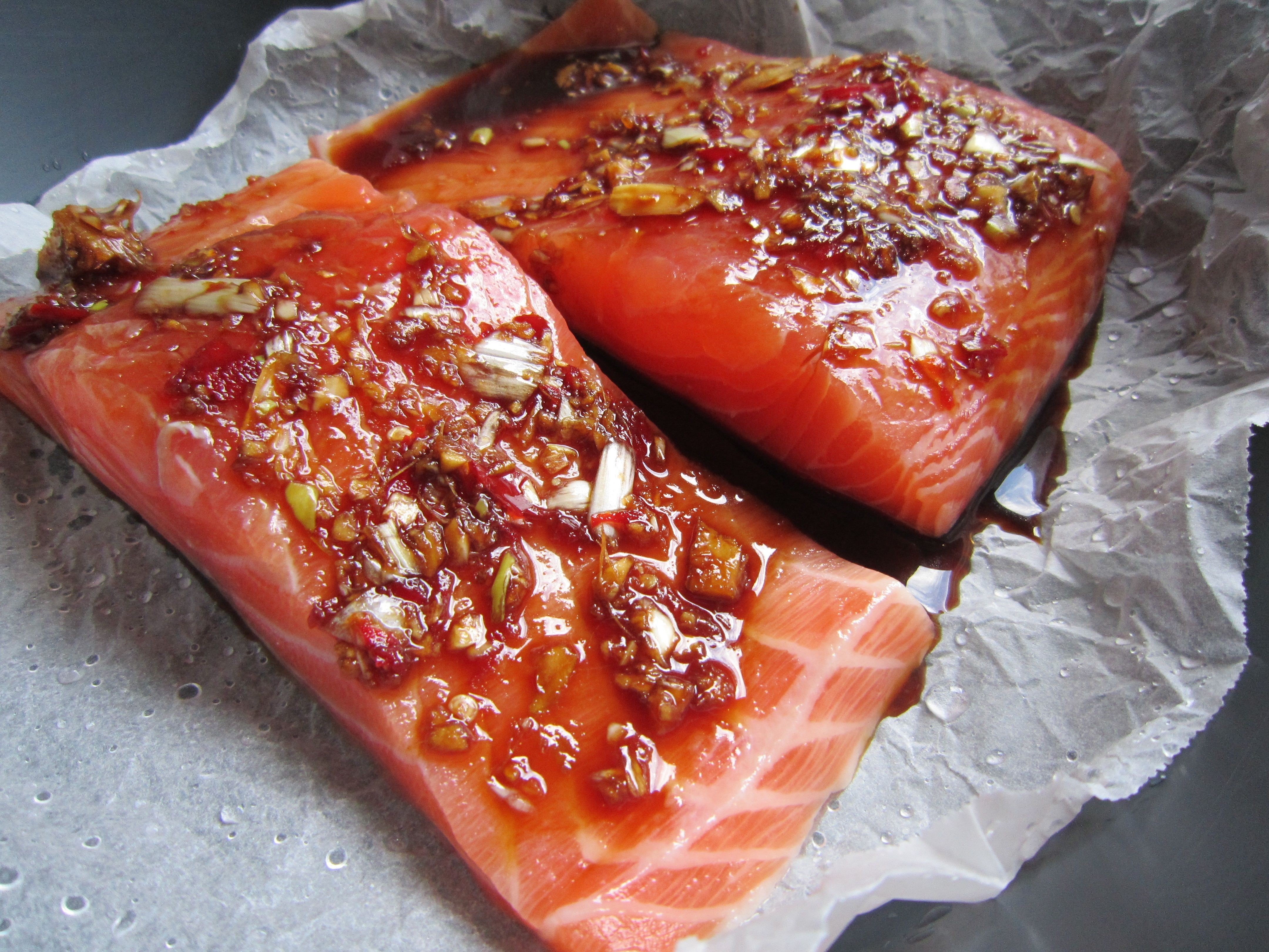 simple steamed salmon official thermomix recipe. Black Bedroom Furniture Sets. Home Design Ideas