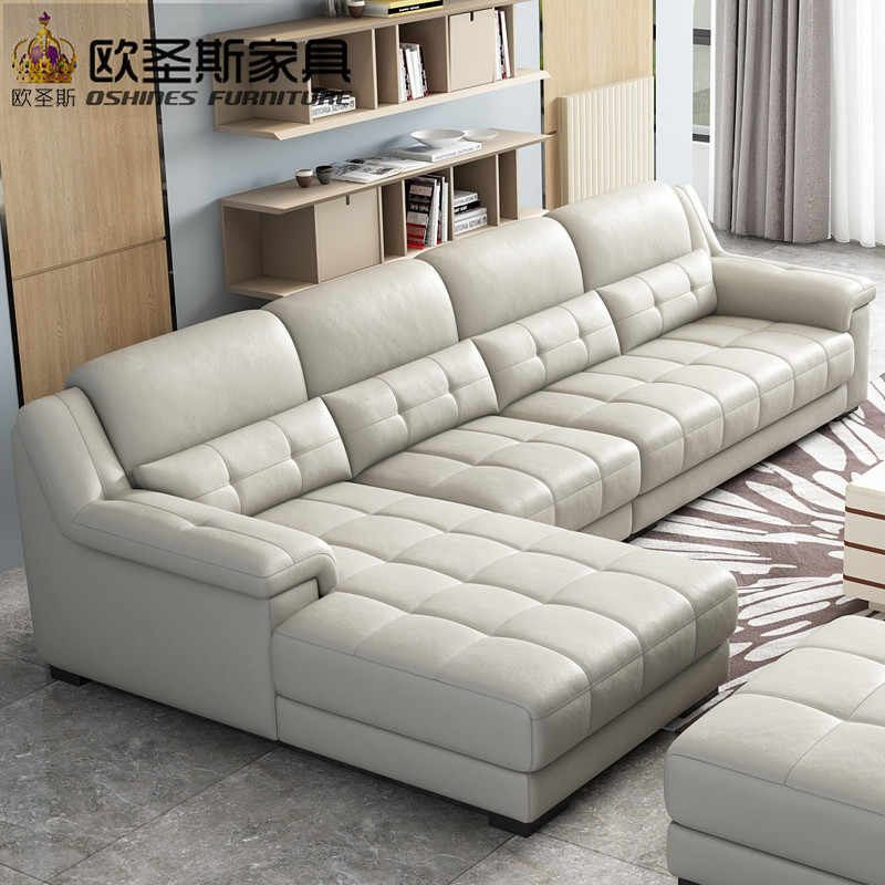Gray Color Palette Leather Living Room Beautiful New Arrival