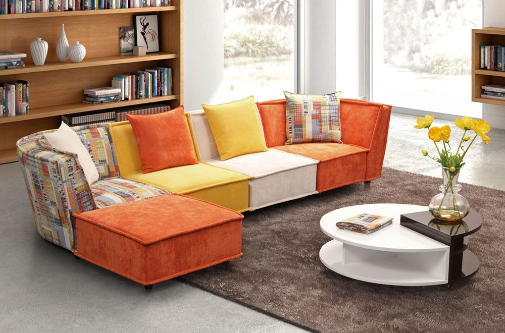 Jolie Multi Color Modular Sectional Happy Living Rooms Living
