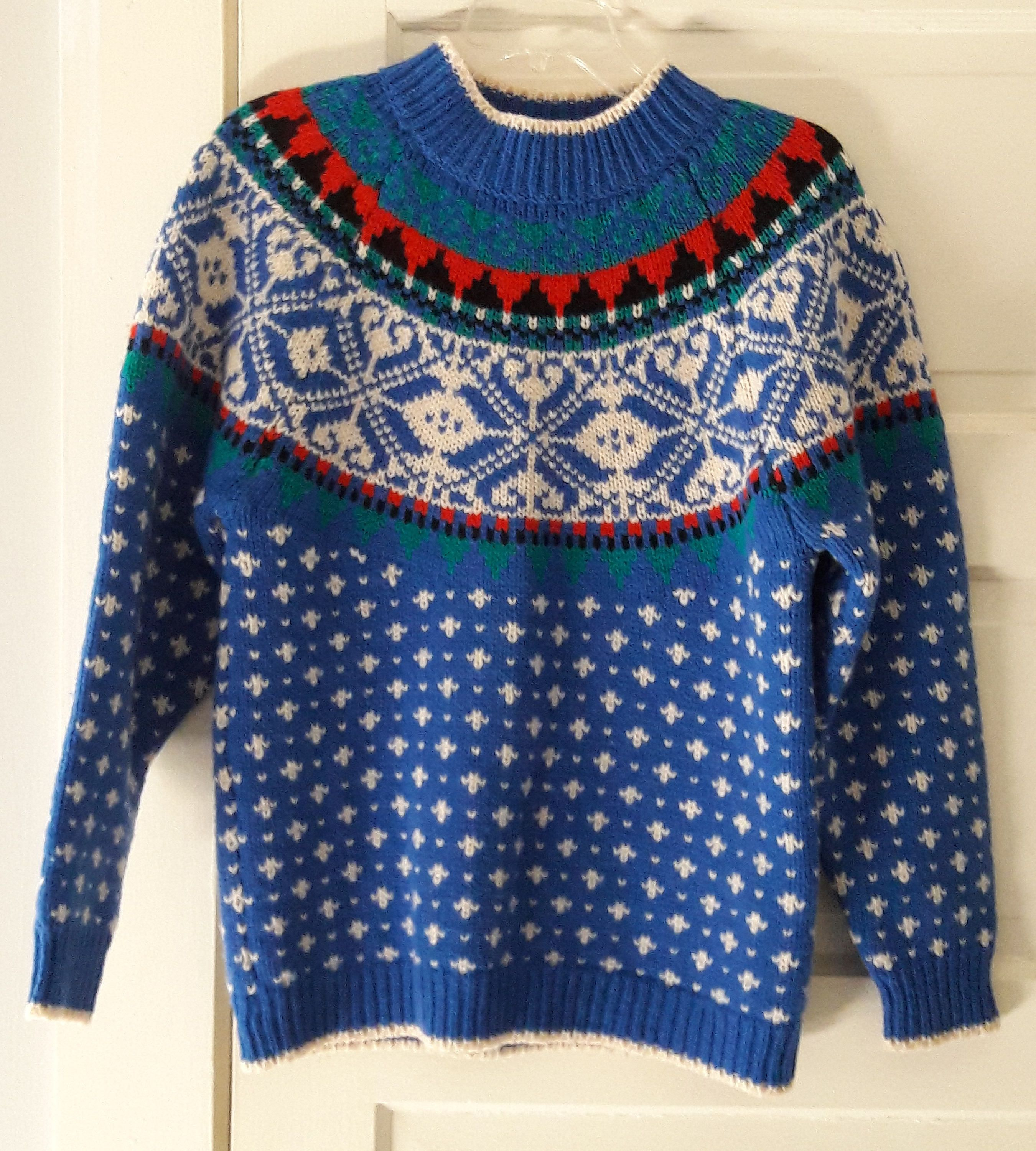 Vintage Nordic Wool Sweater 1ab9a936f