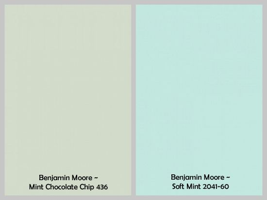 Gray And Mint Green Colors To Pair With The Benjamin Moore C